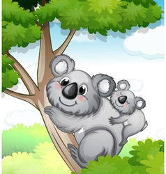 bears in nature vector image vector image