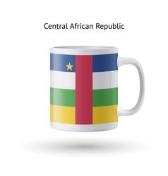 Central African Republic flag souvenir mug on vector image