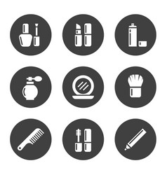 decorative cosmetic icon set vector image vector image