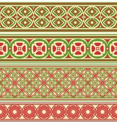 Decorative seamless borders vector image vector image