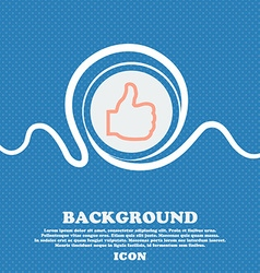 Like sign icon Blue and white abstract background vector image vector image