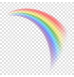 Rainbow icon realistic 8 vector image vector image