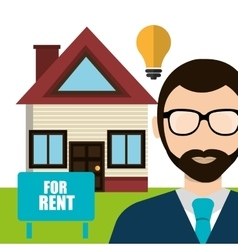 Real estate business and profits vector image vector image