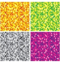 Set of Abstract Chaotic Pixel Backgrounds vector image vector image