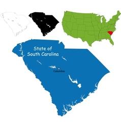 South carolina map vector image vector image