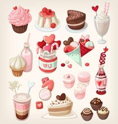 valentine food vector image vector image