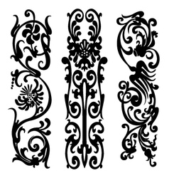 black silhouette pattern vector image vector image