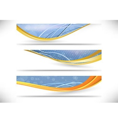 Modern headers collection - for web and vector image vector image
