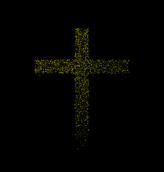 abstract golden cross vector image