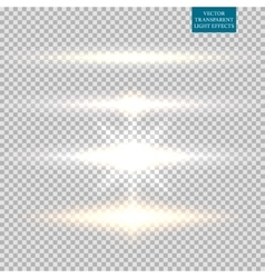 Abstract image of lighting flare Set vector image