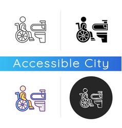 Accessible toilet icon vector