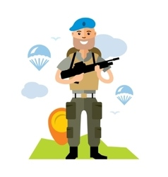 Airborne troops Flat style colorful vector