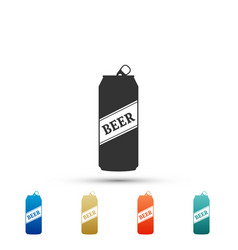 beer can icon isolated on white background vector image
