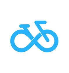 Bike infinity logo icon design vector