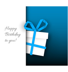 Birthday card template vector