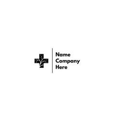 Black medical cross abstract logo design vector