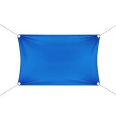 Blue Blank Empty Horizontal Rectangular Banner vector image