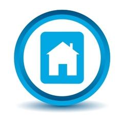 Blue home icon vector