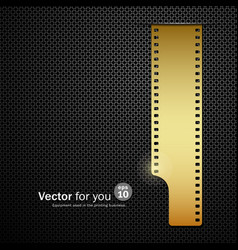 Camera film roll gold background vector image