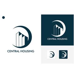 Central housing logo template design vector