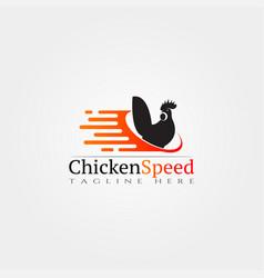 Chicken farm icon template creative logo design vector