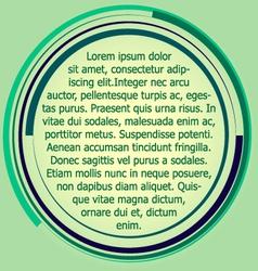 Circular text box label vector image