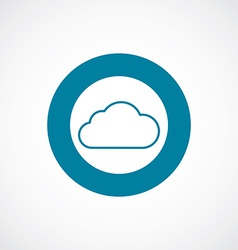 Cloud icon bold blue circle border vector