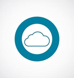 cloud icon bold blue circle border vector image