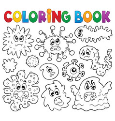 Coloring book germs theme 1 vector