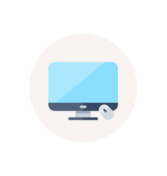 computer display screen icon monitor with mouse vector image
