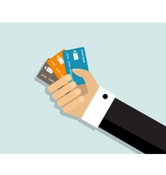 convenience of paying by credit cards vector image