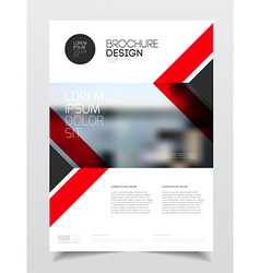 Corporate business document template vector image