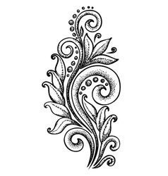 Curls in a graphic style points and lines vector