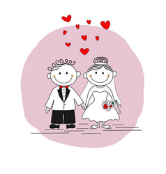 cute married couple vector image