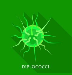 diplococci icon flat style vector image