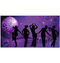 Disco dancing vector image