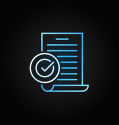 Document with checkmark creative line icon vector