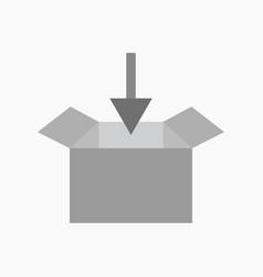 download box icon vector image