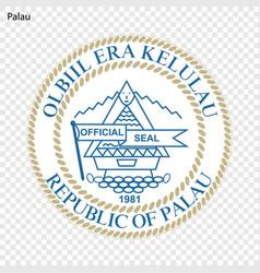 Emblem of palau vector
