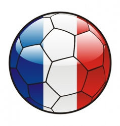 Flag of France on soccer ball vector