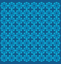 flower blue pattern ornament vector image