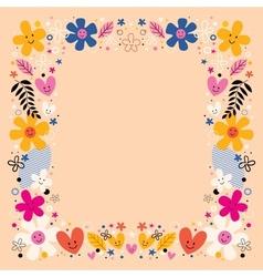 flowers border frame vector image