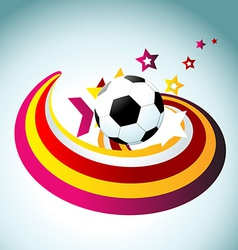 football artistic design vector image vector image