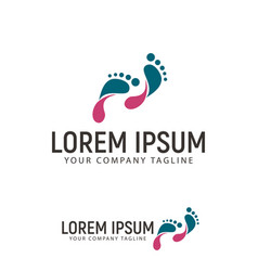 footprint logo design concept template vector image