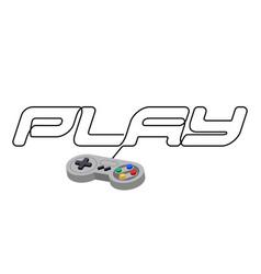 fun entertainment graphic device pc joystick vector image