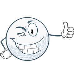 Golf ball cartoon vector