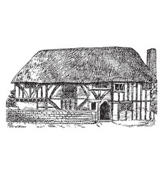gothic architecture alfriston clergy house in vector image
