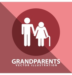 grandparents silhouettes vector image