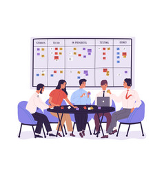 group of people or office workers sitting around vector image