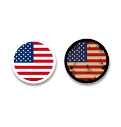grunge american flag badges vector image